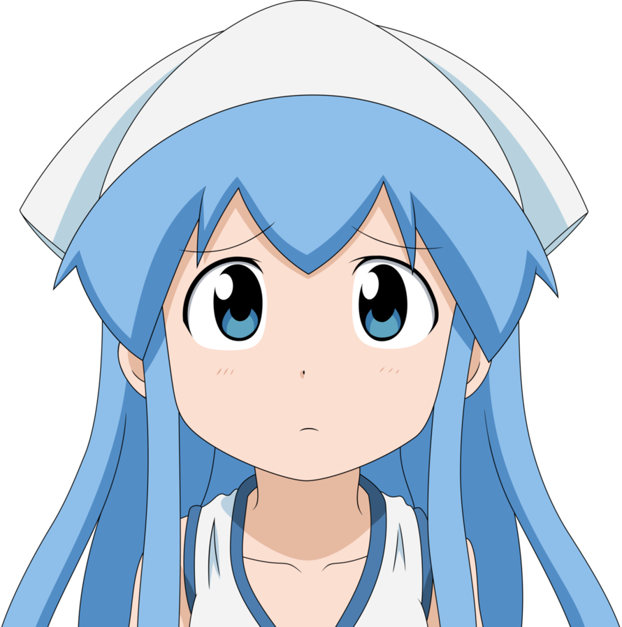 Anime girl confused png. Ika by mio on