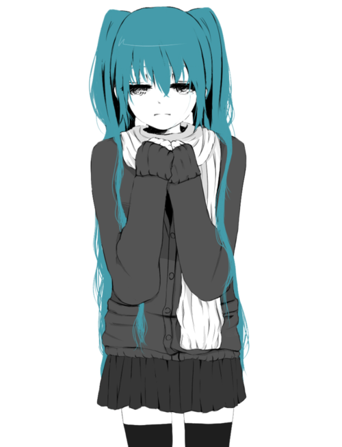 Anime girl crying png. Miku cry shared by