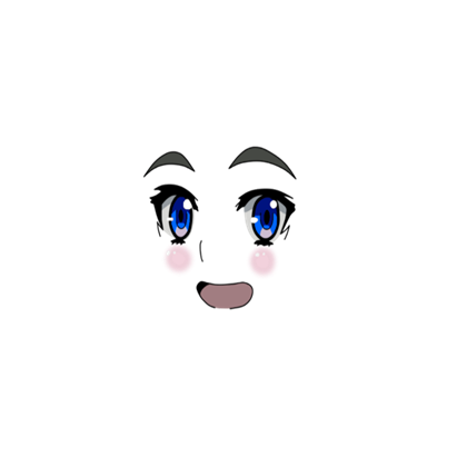Roblox . Anime girl face png vector