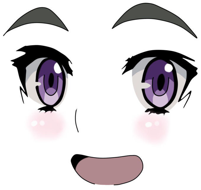 Transparent pictures free icons. Anime girl face png picture black and white download