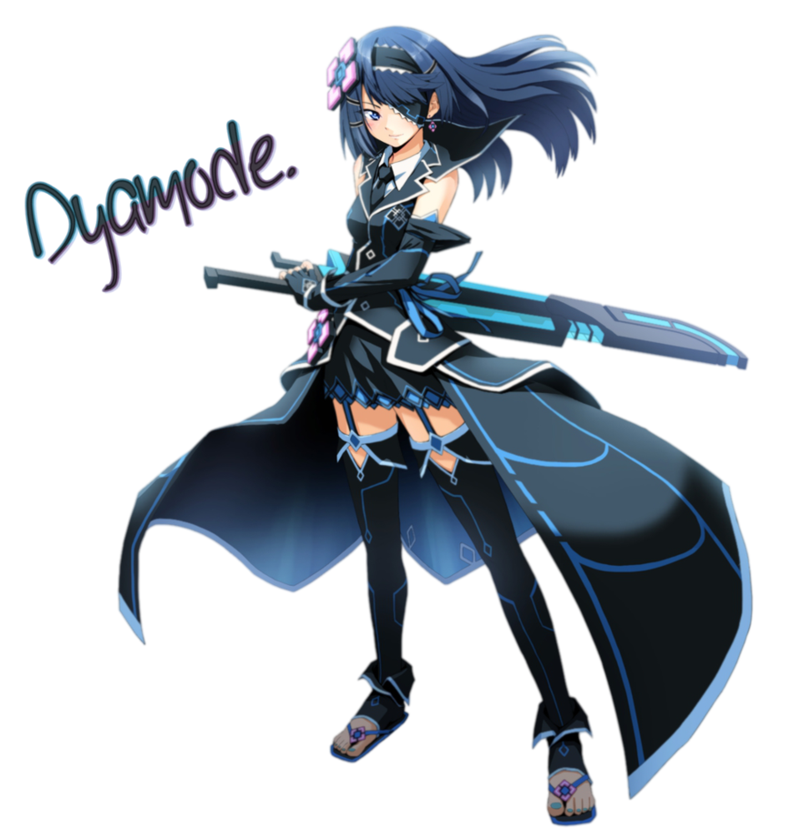 Anime girl warrior png. Render by dyamode on