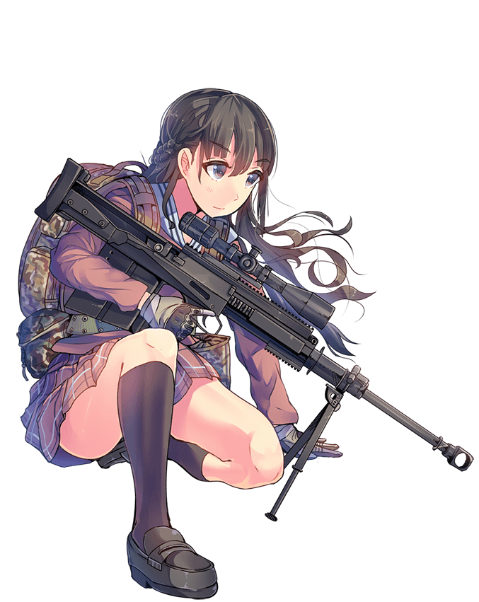 Anime girl with gun png. Image gm lynxnormal shooting
