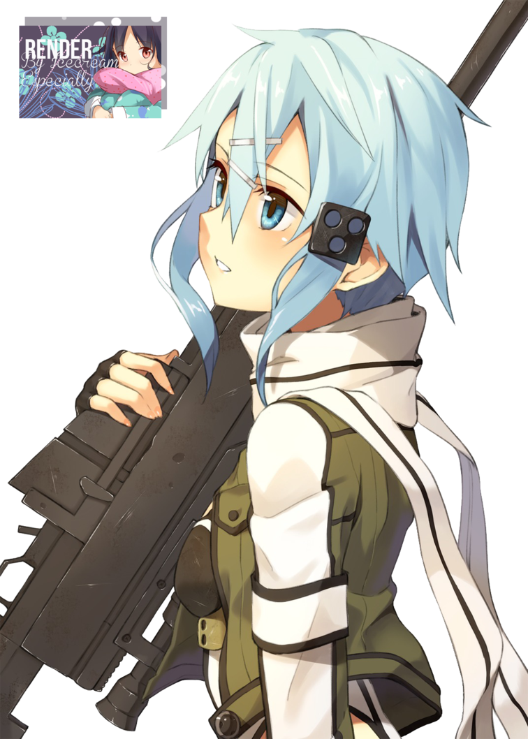 Gale online render by. Anime girl with gun png clipart royalty free library