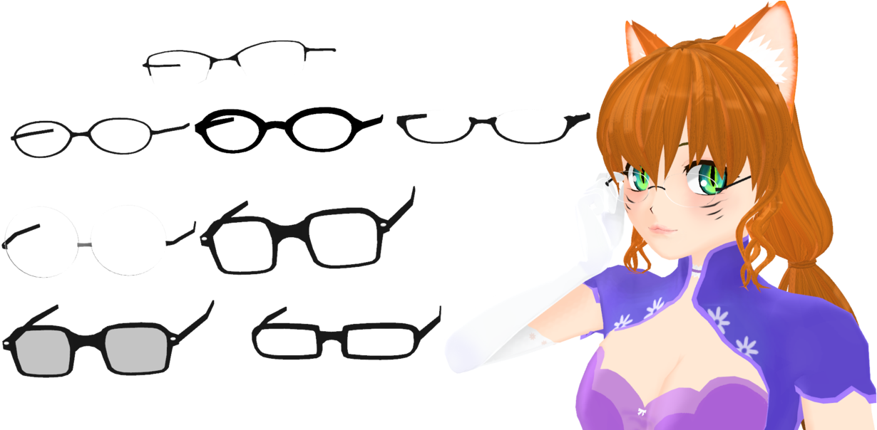 Anime glasses png. Download hd image free