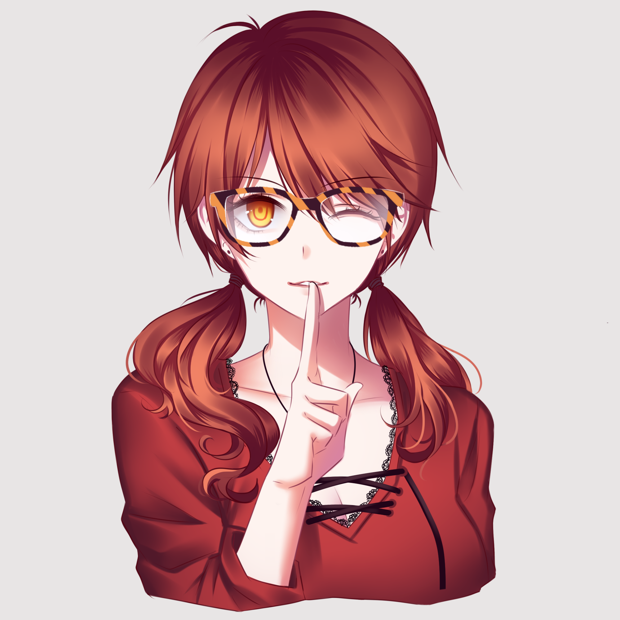 Anime glasses png. Image lucy choi with