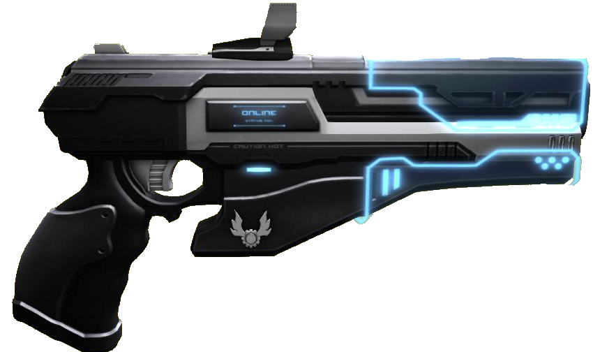 transparent rifle sci fi