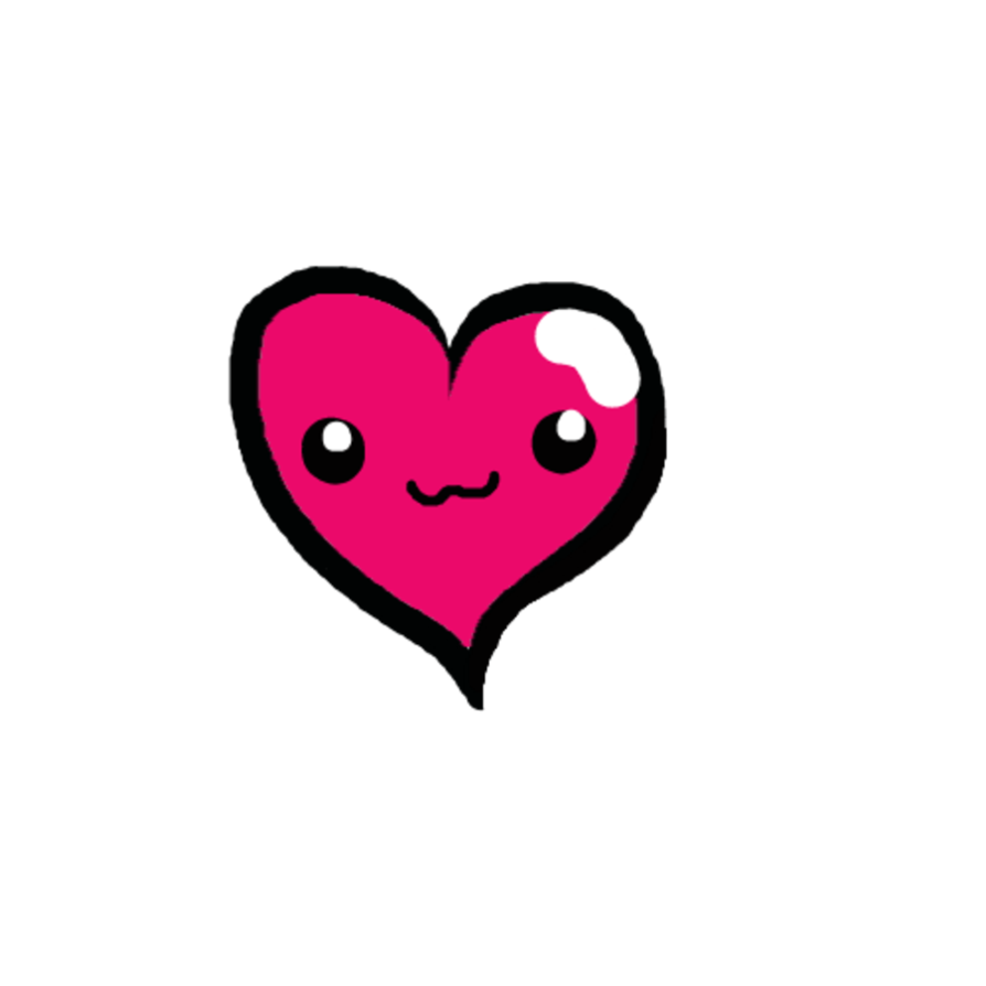 Anime heart png. Purple hair girl by