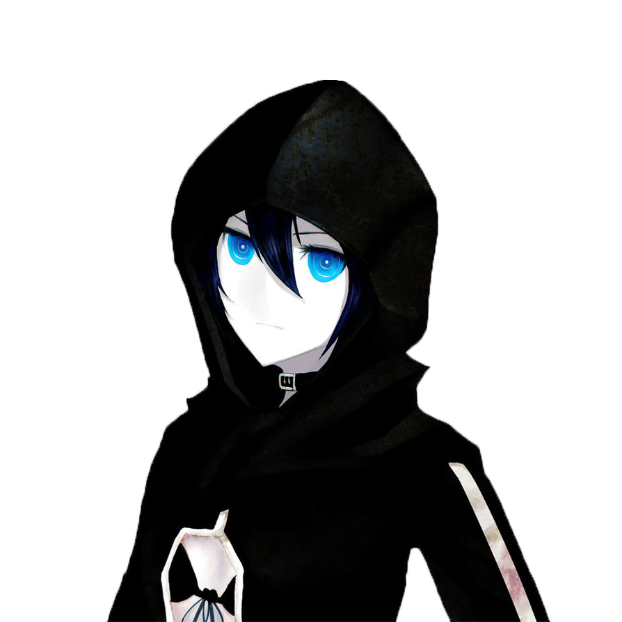 Anime hoodie png. Image black rock shooter