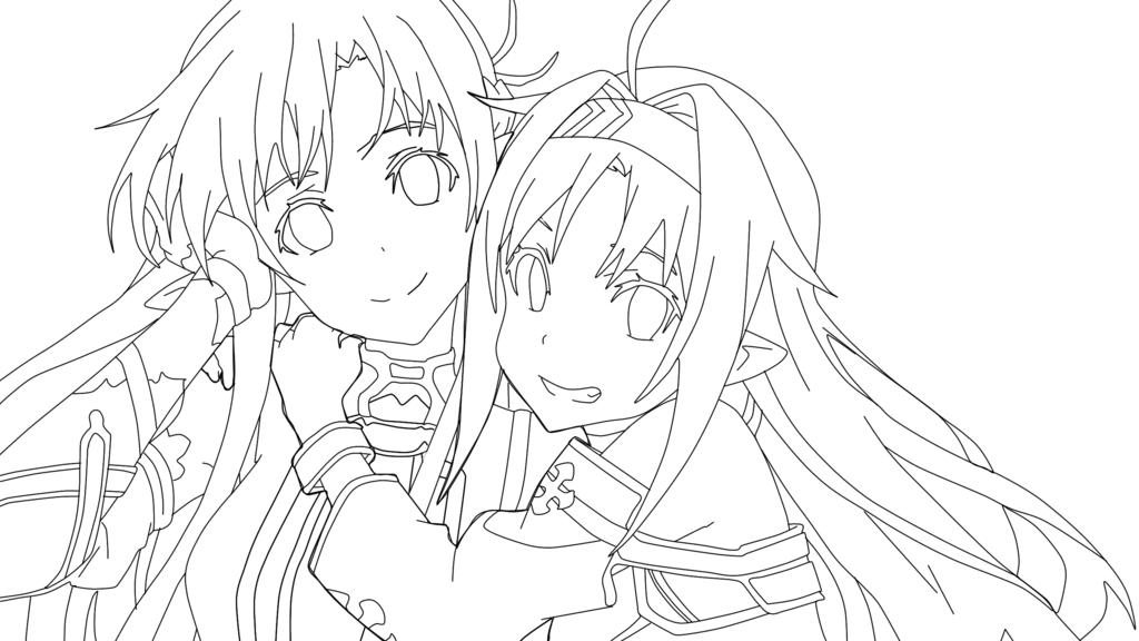 Anime lineart png. Professional for free