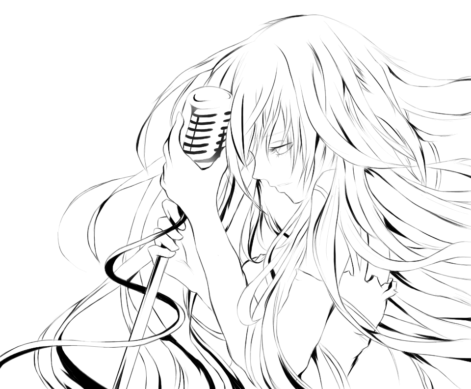 drawing scary anime