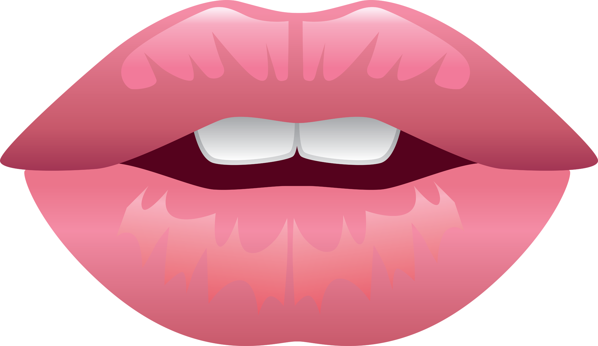 Anime lips png. Flowers smell good by