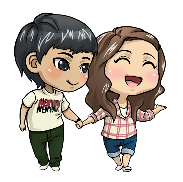 Anime love png. Couple file mart