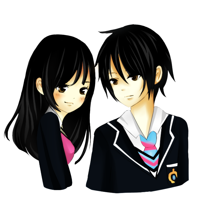 Love couple png. Anime download pic transprent