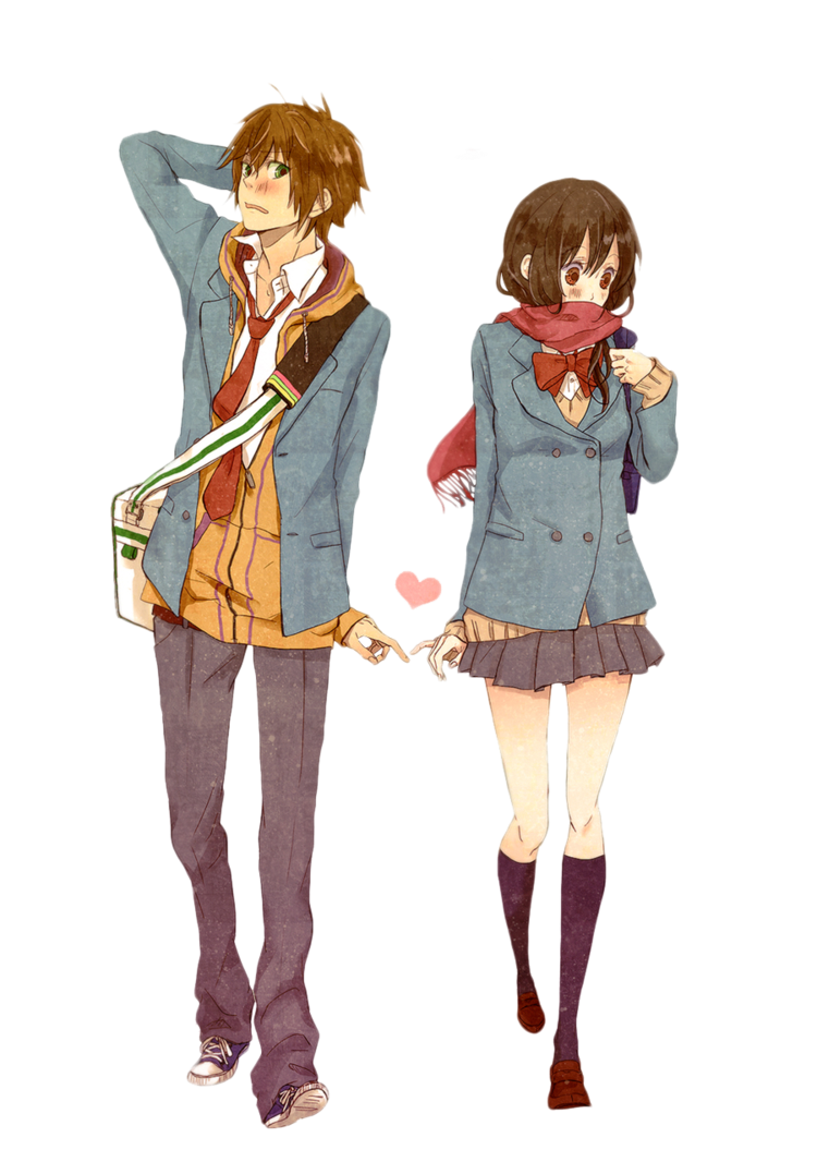 Anime Love Couple Transparent Background