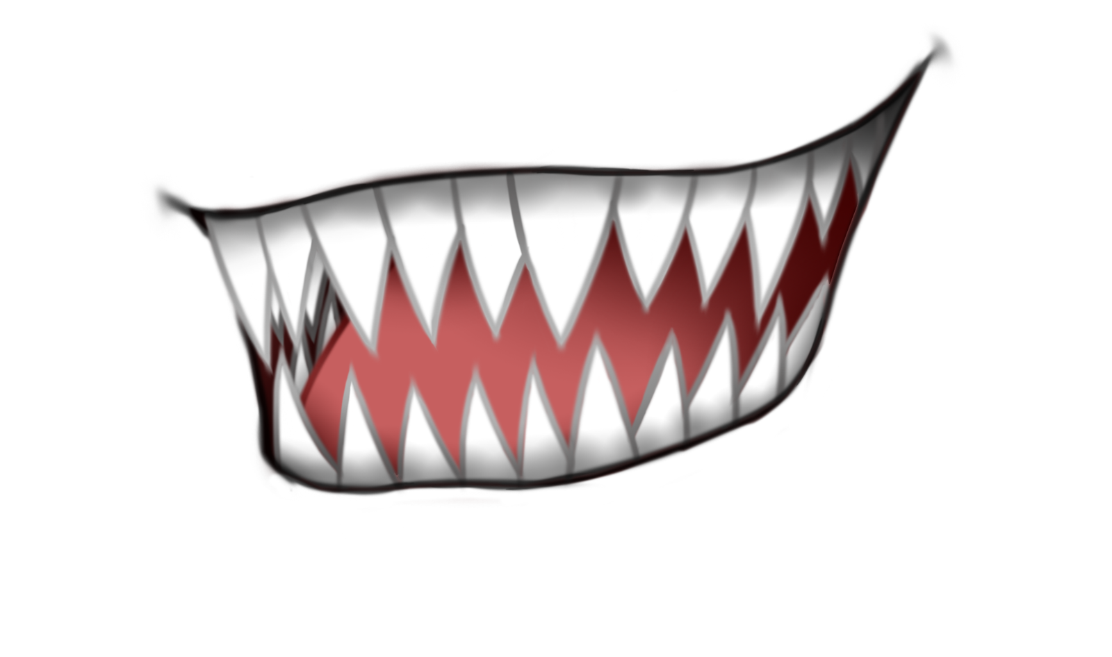 Anime mouth png. Canine tooth smile transprent