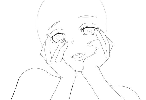 Anime outline png. Head clipart images gallery