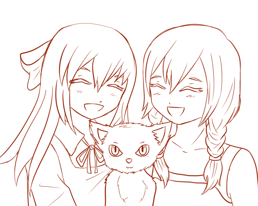 Anime outline png. Girl body ellen and