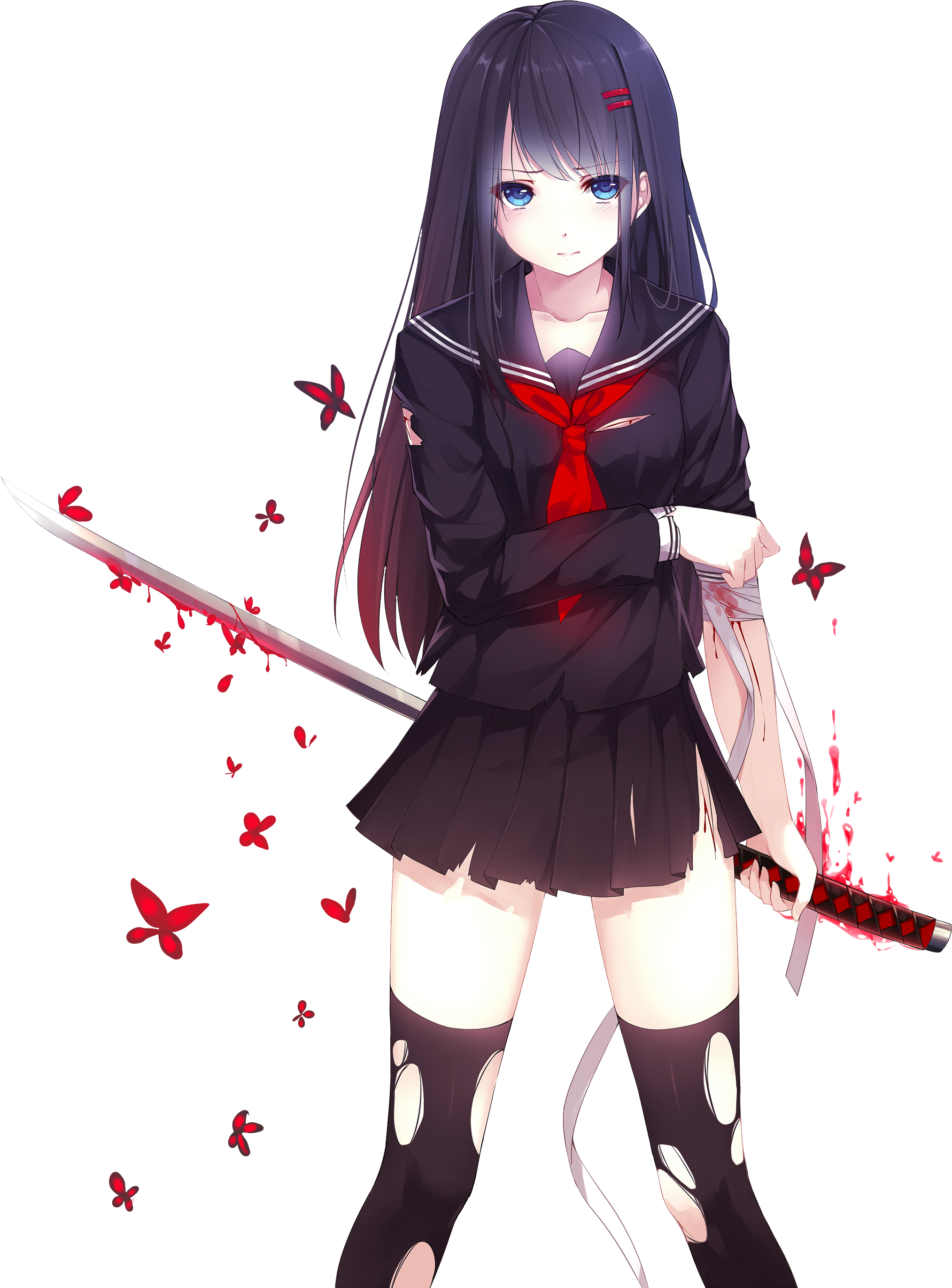 Girl by bloomsama on. Anime png images banner library library