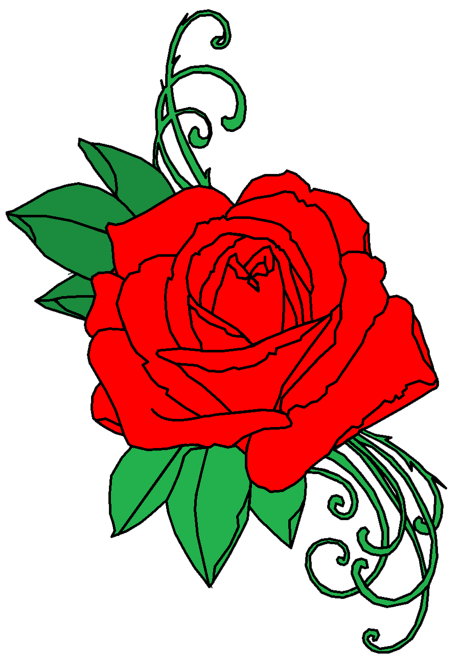 Anime roses png. Rose tattoo transparent free