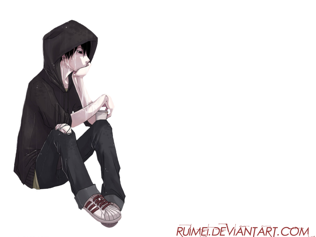 Anime sad png. Boy render by ruimei