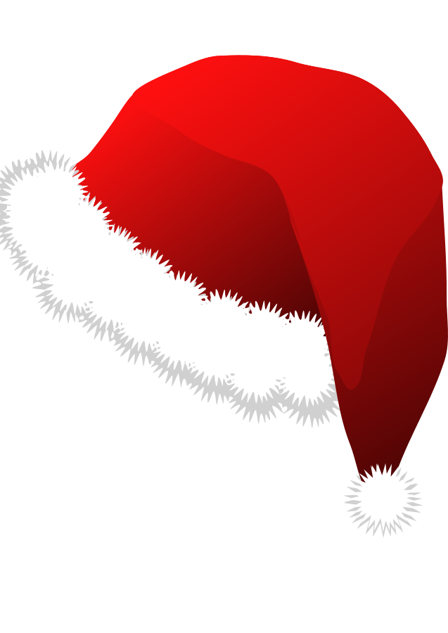 Vector santa minimalist. Free cartoon hat download