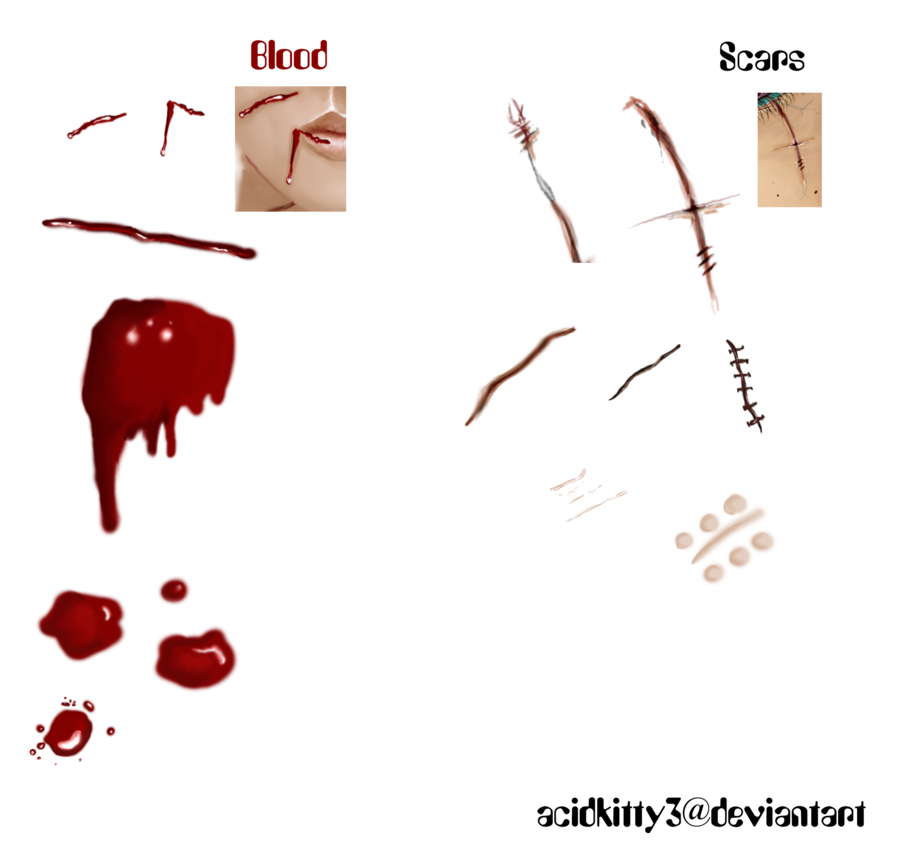 Png scar. Free blood and scars banner freeuse download