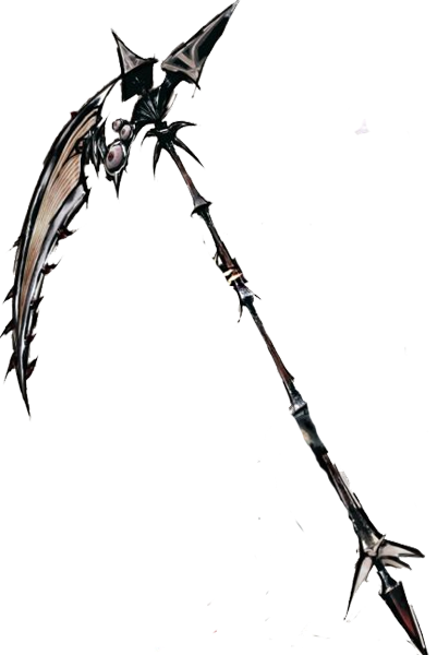 Weapon drawing scythe. This might be a