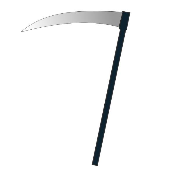 Transparent reaper scythe. Why is a popular