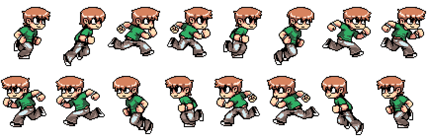 running sprite sheet png