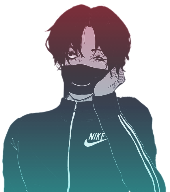Anime vaporwave png. Nike aesthetic sticker by
