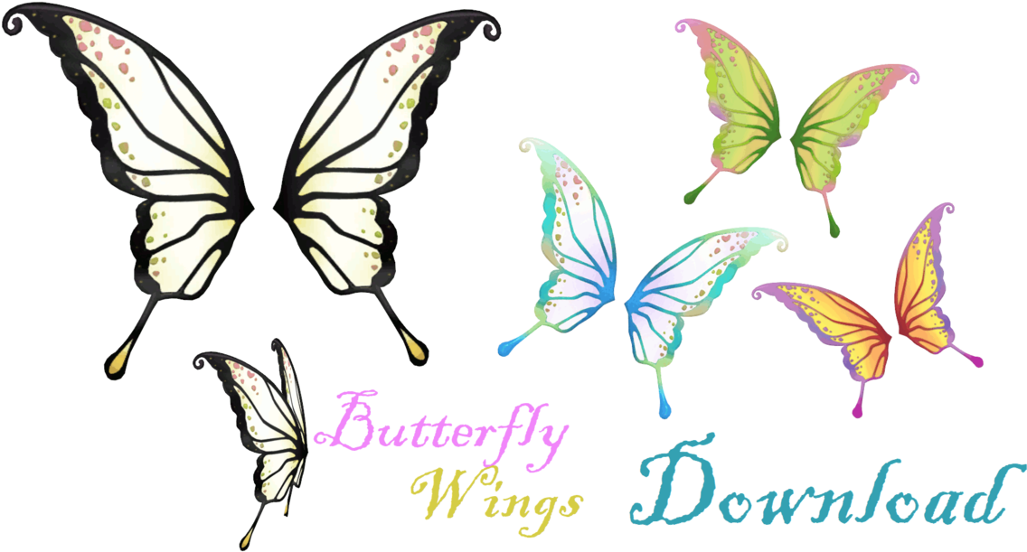 Anime wing png. Download hd butterfly clip