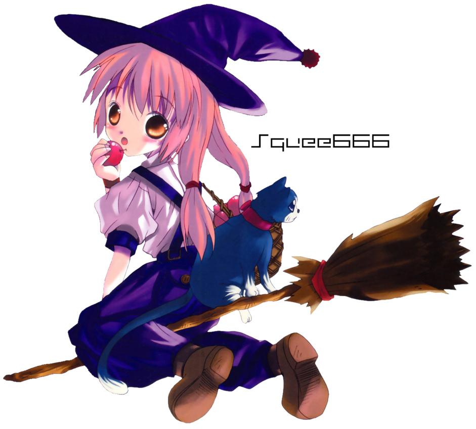Anime witch png. Render by squee on