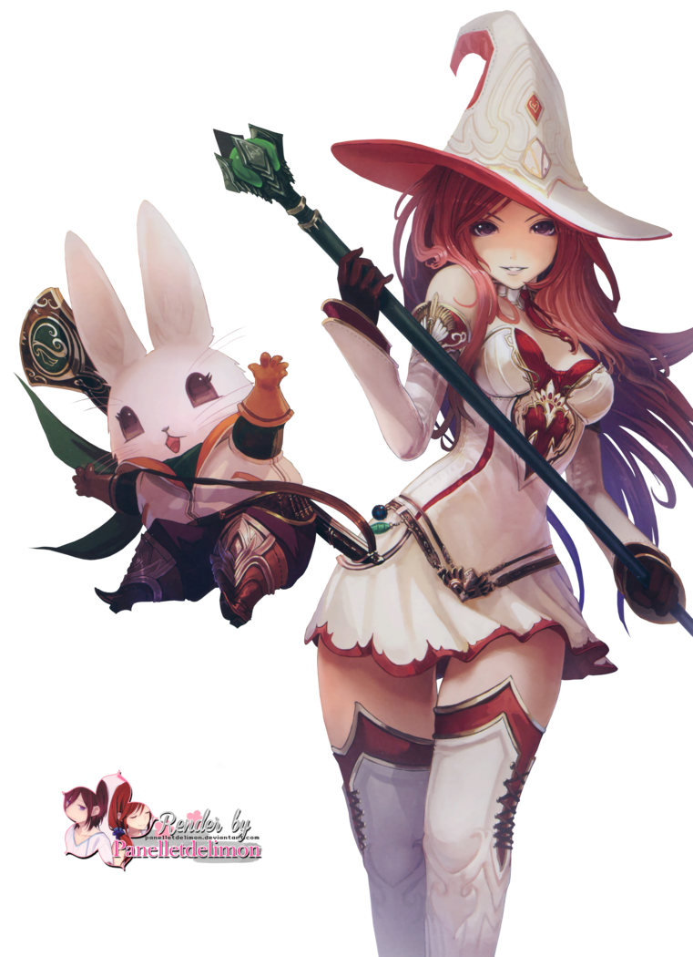 Anime witch png. Render by panelletdelimon on