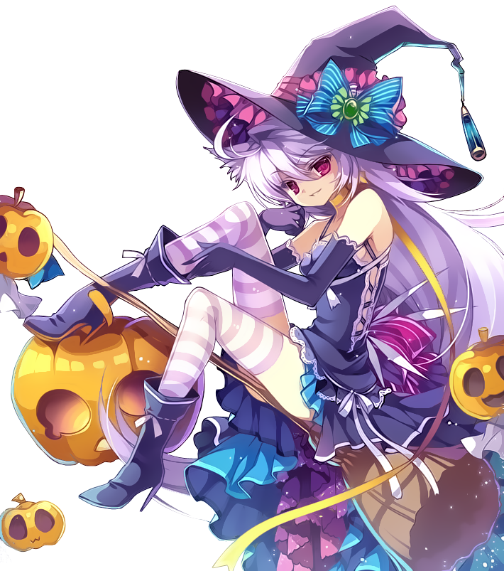 Anime witch png. Green devil designs