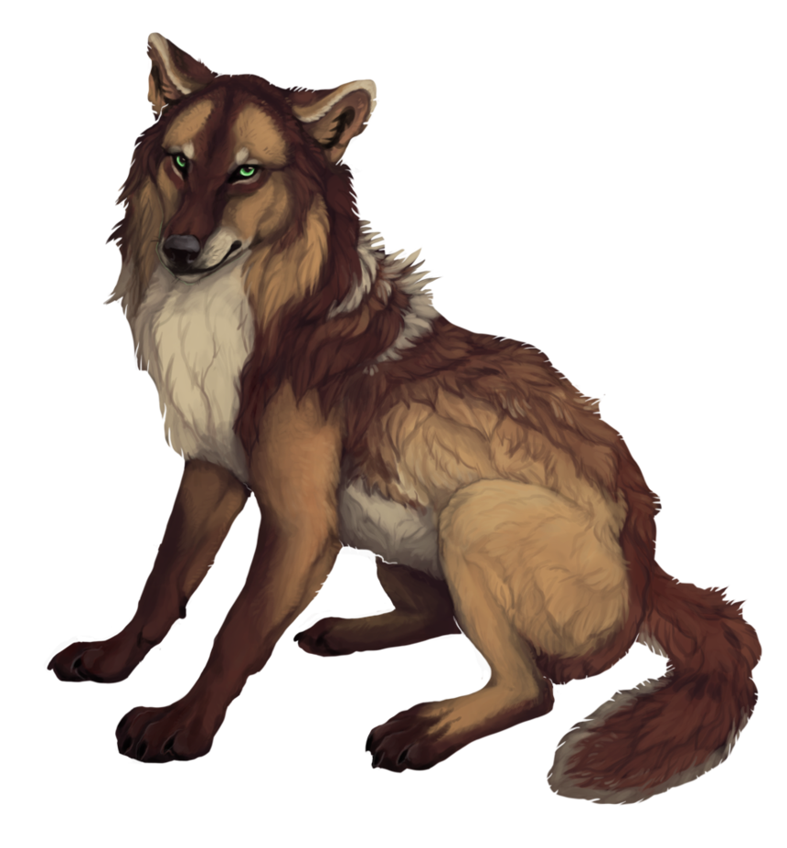 Anime wolf png. Commission holly by savage