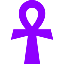 Violet icon free civilization. Ankh transparent banner library library