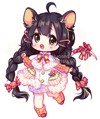 Annie drawing chibi. Day utch mouse by
