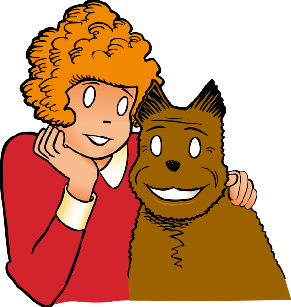 Annie drawing little orphan. Png image trans back