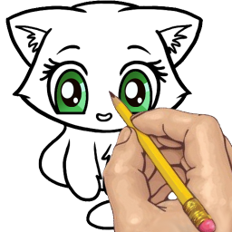 Annie drawing step by. How to draw cats