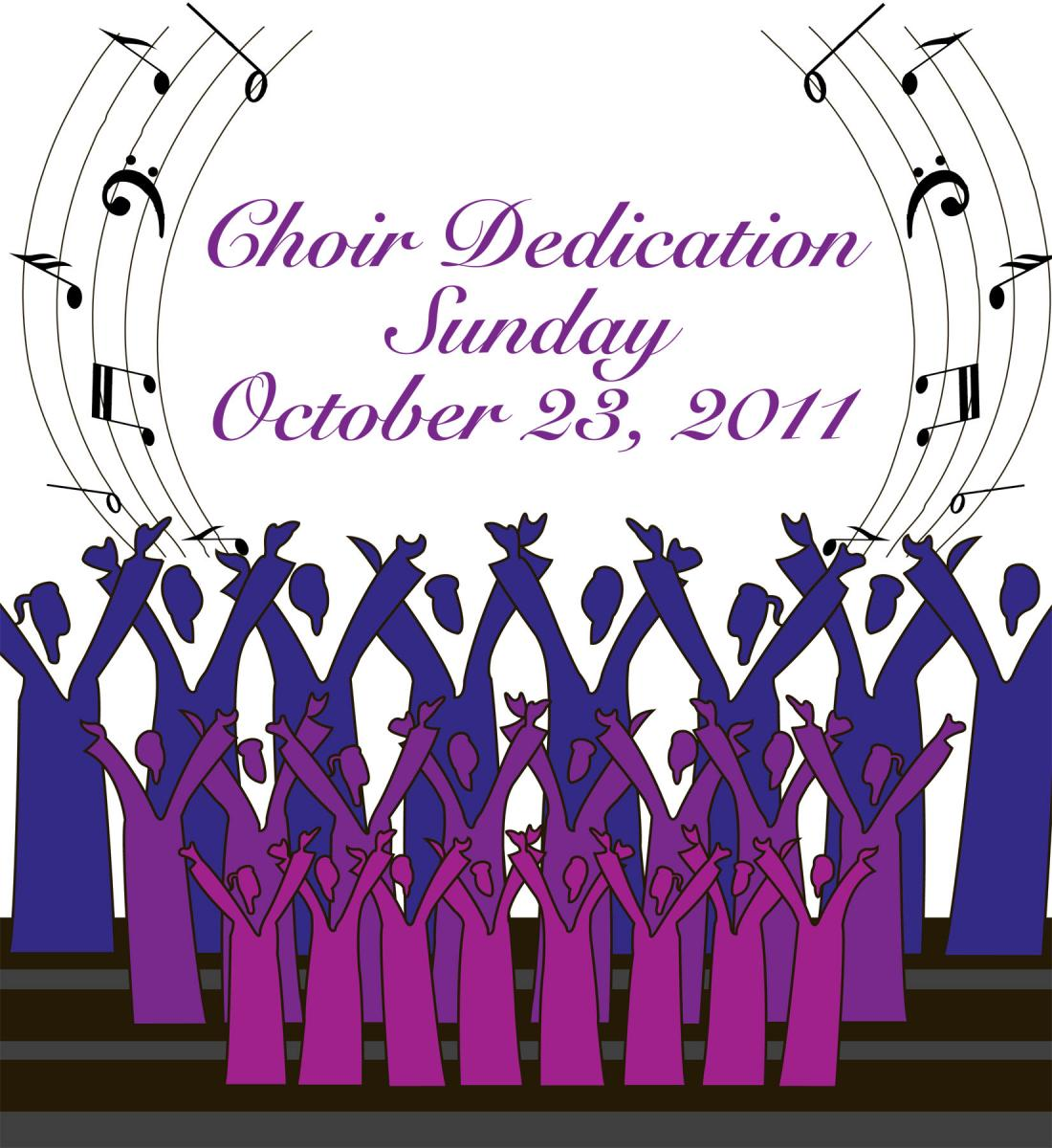 Anniversary clipart choir.