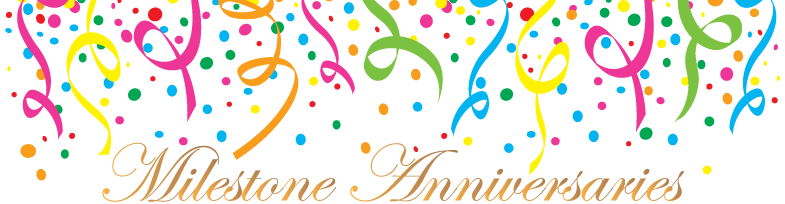 Anniversary clipart milestone. Special message and anniversaries