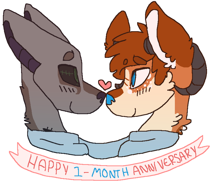 Anniversary drawing boyfriend. Happy month by powiibo