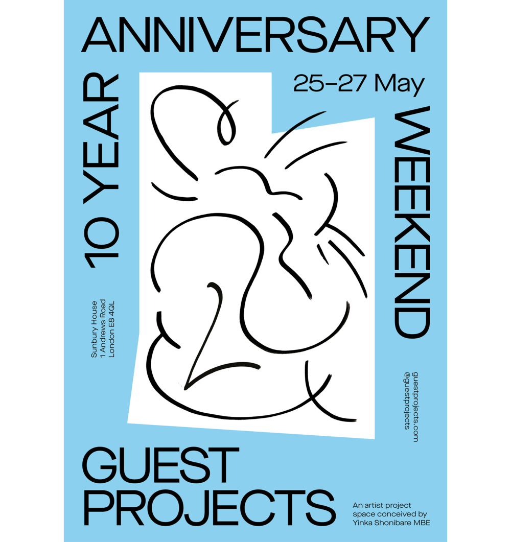 Anniversary drawing artistic. Year guest projects