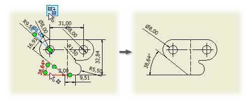 Annotated drawing design. Retrieve model annotations in