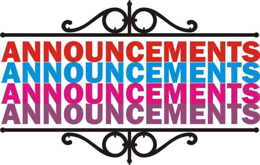 Announcement clipart church. Weekly update fbcmebane for