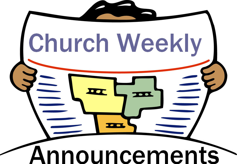 Announcement clipart student. Weekly church
