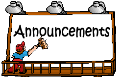 Announcements clipart reminder. Woodland park elementary news