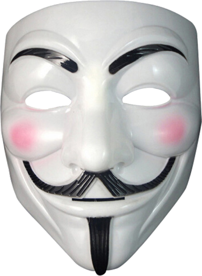Anonymous hackers mask png. Download free transparent image