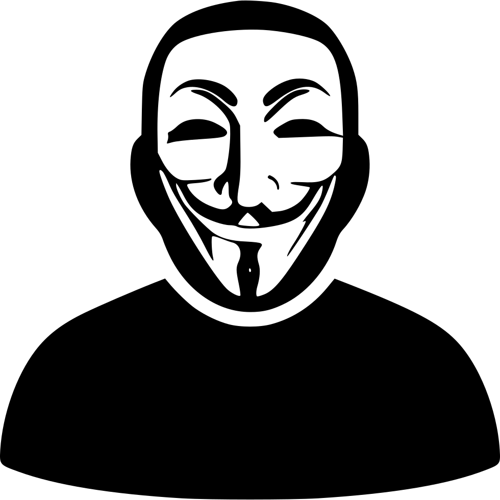 Anonymous hackers mask png. Security hacker sticker hacktivism