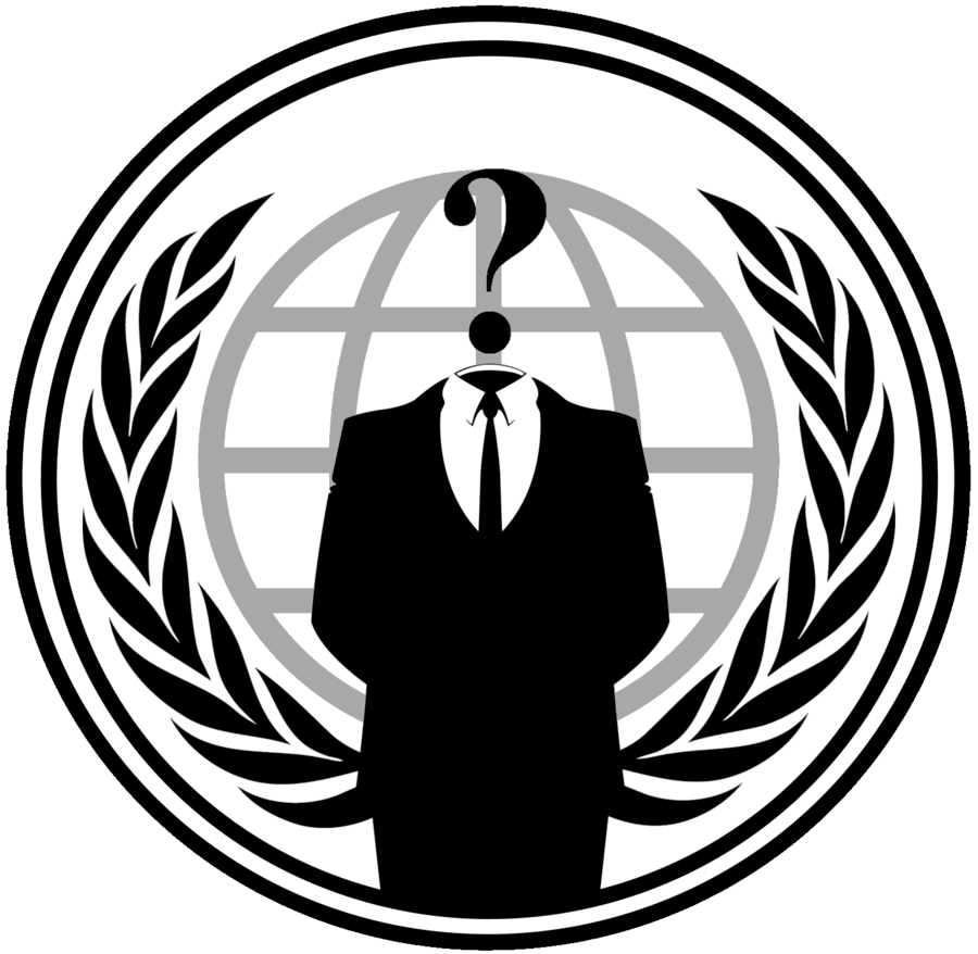 Logo transparent stickpng. Anonymous png black and white download